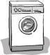 Waschsalon, waschen, Waschecke